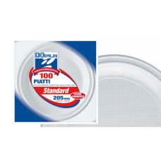 PIATTI FONDI D.205 100 PZ BIANCHI