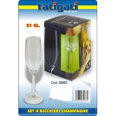 SET 4 BICCH. CHAMPAGNE 21 CL.