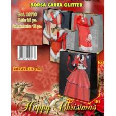 BORSA CARTA GLITTER 26X12X32 CM