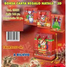 BORSA CARTA REGALO 3D A RILIEVO 18X8,5X23 CM