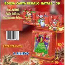 BORSA CARTA REGALO 3D A RILIEVO 26X10X32 CM