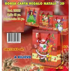 BORSA CARTA REGALO 3D A RILIEVO 30X12X43 CM
