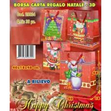 BORSA CARTA REGALO 3D A RILIEVO 40X18X48 CM