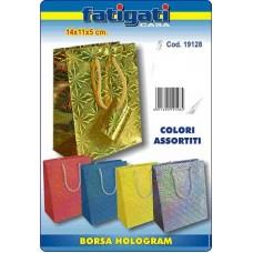 BORSA HOLOGRAM 14X11X5 CM COLORI ASS.