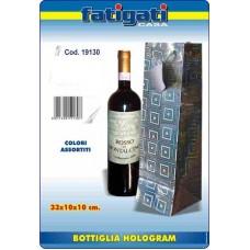 BORSA BOTTIGLIA HOLOGRAM 33X10X10 CM