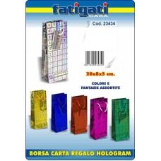 BORSA CARTA REGALO HOLOGRAM 20X8X5 CM