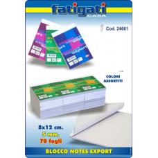 BLOCCO NOTES EXPORT 8X12 5MM