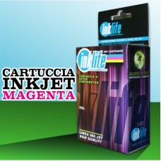 Compatibile Inklife Canon CLI 571XL Magenta 11 ML Con Chip